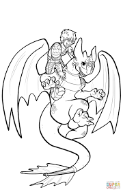 hiccup and toothless flying coloring page free printable