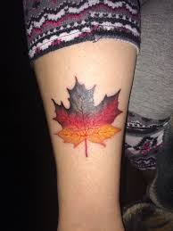 my new tattoo showing my heritage german maple leaf tattoos