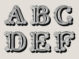 drawing of the fancy letter e clip art vector images