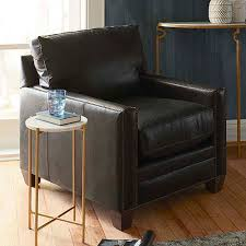 Leather Accent Chair Leather Accent Chairs Living Room Bassett Furniture