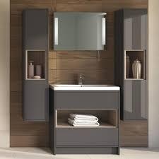 B Q Bathroom Storage Units Bathroom Modern High Gloss Bathroom Storage Unit And Vanity