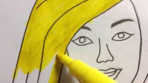 how to draw barbie how to colors barbie for kids youtube