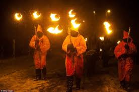 imbolc festival 2012 pagan sun worshippers battle winter with