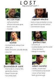 Lost Memes Tv - tag yourself tv show tumblr