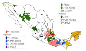 Map Of Chiapas Mexico by Map Of The 11 Language Families In Mexico 1476x874 Mapporn