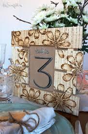 Pallet Wedding Decor Wood Burned Table Number Pallet Sign U2022 Rustic Wedding Decor
