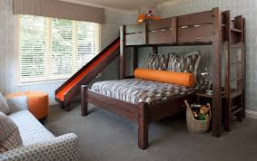 Wooden Bunk Beds Pics by Wood Bunk Beds With Slide Having Fun With Bunk Beds With Slide