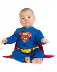 spirit halloween headquarters superman caped baby coverall exclusively at spirit halloween he