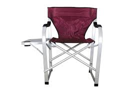 Aluminum Directors Chair Bar Height by Amazon Com Stylish Camping Sl1215 Burgundy Heavy Duty Folding