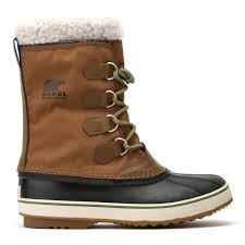 sorel mens nutmeg brown black 1964 pac nylon boots in brown for