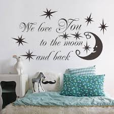 popular quotes for girls bedrooms buy cheap quotes for girls we love you to the moon and back star quotes vinyl stickers for kids boys girls