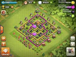 layout coc town hall level 7 base design town hall level 7 3 defensive war pinterest