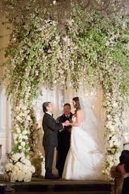 wedding arch nyc new york city wedding filled with opulent décor and florals