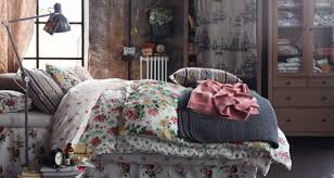 bedrooms bedroom shabby chic bedroom idea with floral bed cover