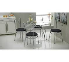 Argos Bar Table Buy Home Lusi Glass Dining Table And 4 Chairs Black At Argos Co