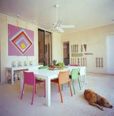 colorful dining table colorful dining chairs with painted white wooden dining table