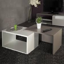 salon haut de gamme table basse gigogne coloris blanc taupe u2013 phaichi com