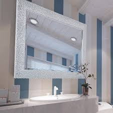 Framed Bathroom Mirror Ideas Bathroom Vanity Wall Mirrors Mirror Lighted Intended For