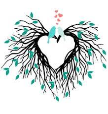 Wedding Tree Birds In Love Kissing On A Heart Tree Royalty Free Vector