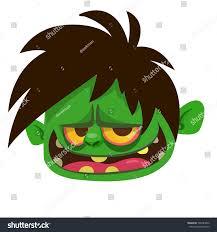 halloween vector cartoon zombie head icon halloween vector stock vector 505283842