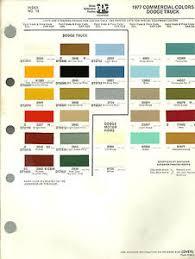 1977 dodge truck color chip paint sample brochure chart ppg