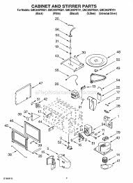 Whirlpool Microwave Light Bulb Whirlpool Gmc305prs01 Parts List And Diagram Ereplacementparts Com