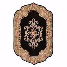 home decorators collection calais black 8 ft x 11 ft area rug