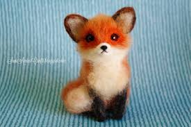 needle felting part xii little red fox anything art