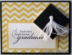 grad cards handmade graduation card clean and simple kraft with black and