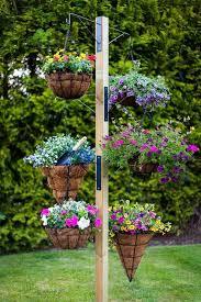 Hanging Flower Pot Hooks Best 25 Hanging Basket Stand Ideas On Pinterest Landscaping