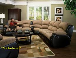 Double Sofa Bed Mattress by Double Recliner Sofa With Console Cleaning Microfiber Four Seasons
