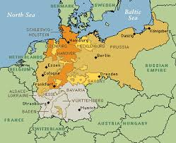 map germany and map of german unification german confederation german