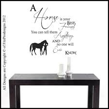 24 horse wall decal home shop wall decals animals horse wall best friend horse wall art quotes wall stickers wall decals