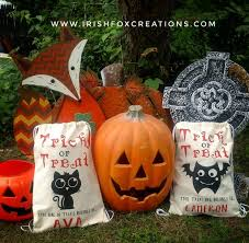 personalized trick or treat bags personalized trick or treat bags
