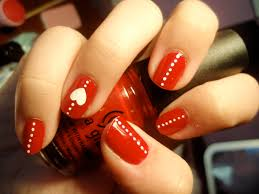 red and black nails with white bow zestymag