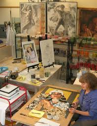 Idea For Tile Art Working Lilian Broca In Her Art Studio Working On Last Mosaic Mosaic