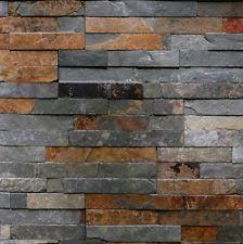 Sample Rustic Copper Linear Natural by Slate Floor U0026 Wall Tiles Ebay