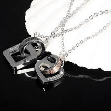 necklace for s day 2pcs set stainless steel pendant necklace