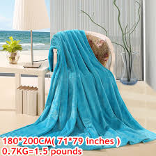 knitted plaid coral fleece winter throw blanket quilts and