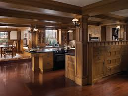 kitchen room arts crafts style kitchen design solid oak wood