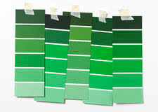 green paint swatches swatches of green paint on wall stock photo image of abstract