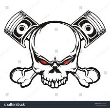 royalty free skull and piston 222364225 stock photo avopix com