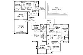 coolest u shaped ranch house plans jk pinterest floor with pool