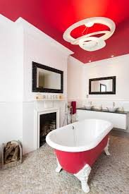 bathroom design artistic bathroom design with red ceiling and
