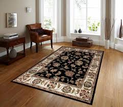 Persian Rug Decor 01005 Black Floral Oriental Area Rug