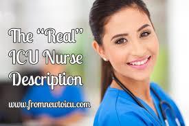 the real icu nurse description u2014 from new to icu