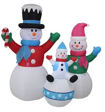 6 foot tall christmas inflatable snowman snowmen family lighted
