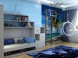 chambre bleu et mauve chambre enfant bleu et déco aux accents colorés