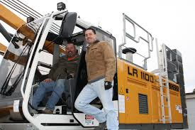 j b steel erectors take delivery of liebherr crawler