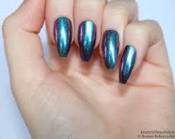 chrome coffin nails etsy